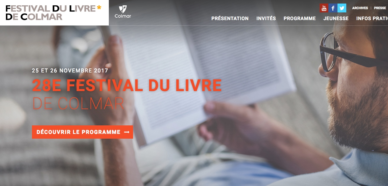 Salon du livre de colmar 26 novembre 2017 for Salon du livre 2017